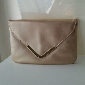 Handbags - Gold Clutch